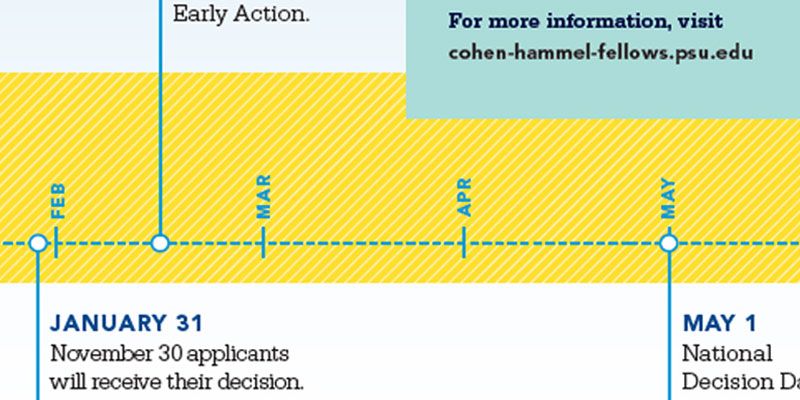 Lines pattern example - yellow bar with diagonal lines representing a timeline bar with infographics and text