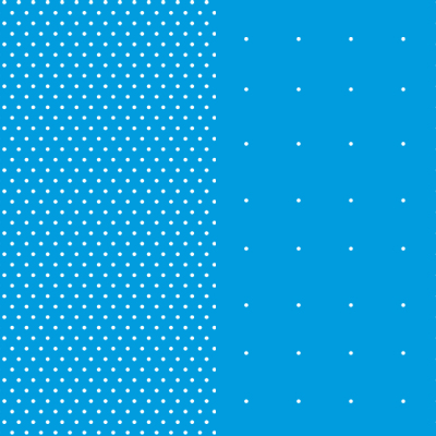 Points/Expanded Points design - white dotes producing line on a light blue background