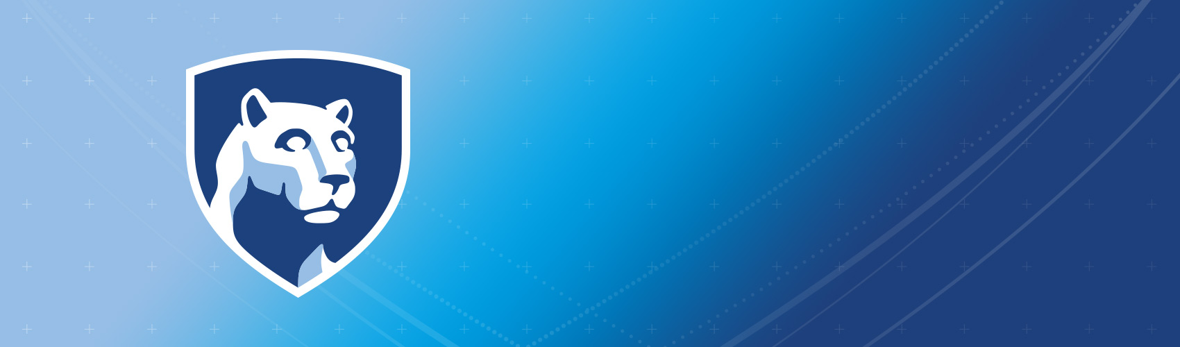 blue gradient with shield